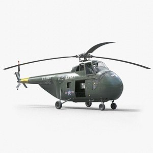 Sikorsky H-19  Chickasaw Helicopter PBR 3D model