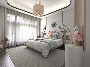Bedroom Postmodern Bedroom Master Bedroom Simplified Bedroom Deluxe Bedroom European Bedroom Childre 3D model