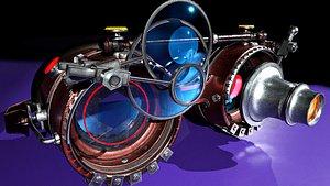 3D Steampunk Goggles