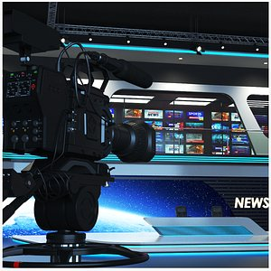 real tv studio 3D model