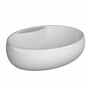 table wash basin ellipse 3D model