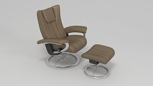 stressless wing leather 3D model