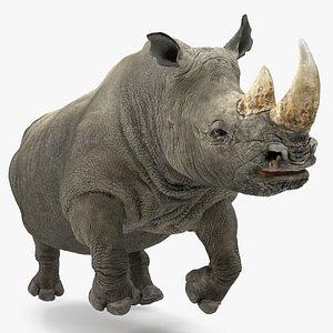 rhino running pose 3D model