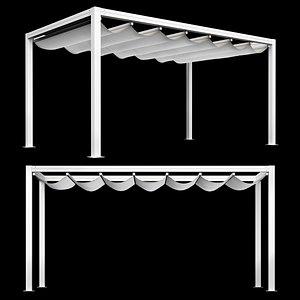 3D Giulio Barbieri -  Bioklimatikus Pergola Onda model