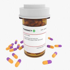 3D medicine pills container