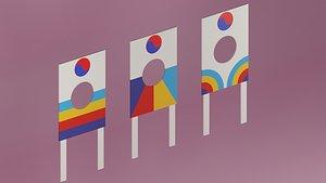 korean kite 3D model