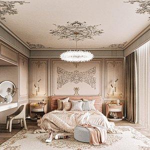 3D room bedroom