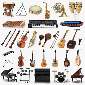 3D model Musical Instruments Collection 10