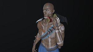african warrior games 3D model