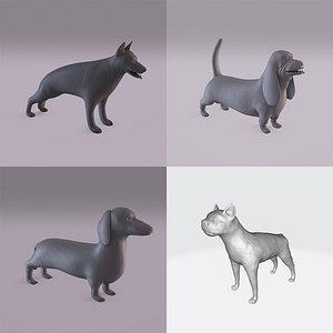 3D Printable dogs bundle