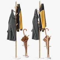 Grace Mango Wood  Marble Coat Rack