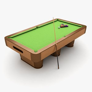 table billiard 3D model