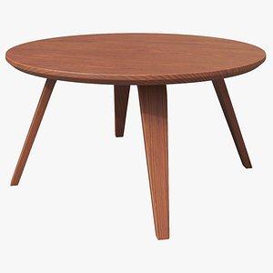 3D Ipe Round Coffee Table model