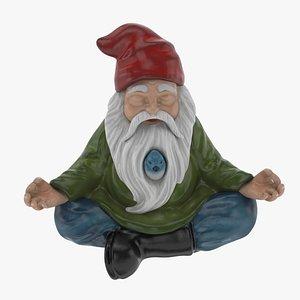 Gnome Statue 01 3D model