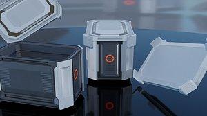 Futuristic Box 3D model