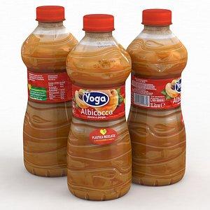 3D Beverage Bottle Juice Yoga Albicocca Apricot 330ml 2021