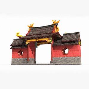 3D gate ancient asia