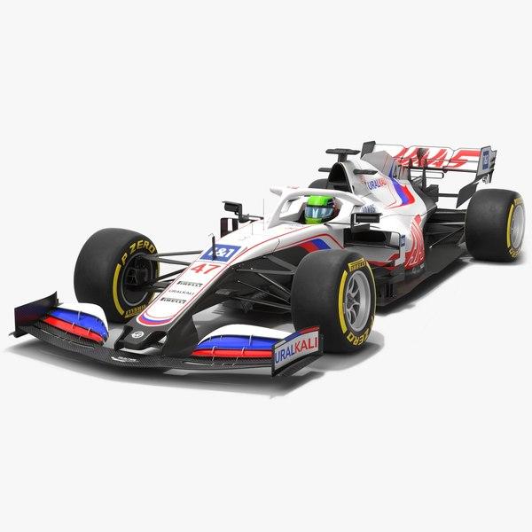 Haas F1 Team 2021 VF-21 Formula 1 Race Car 3D model