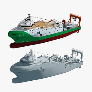 research ship china 3D model