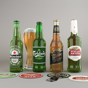 beer bottle set1 model