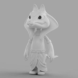 3D Cartoon Sphinx Soldier model