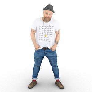 hipster guy model