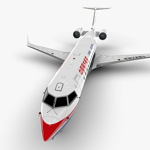 eastern airlines bombardier crj 3D model