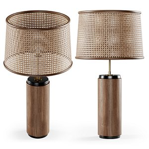 3D wooden rattan table