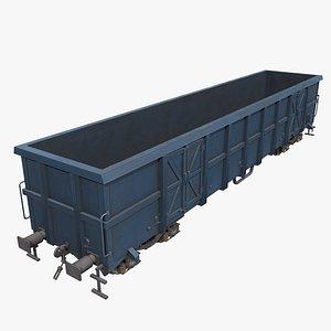 3D Real-time box car wagon model