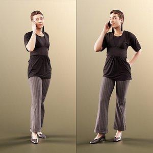 3D woman phone