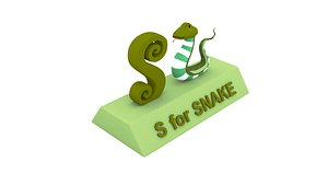 snake s 3D model