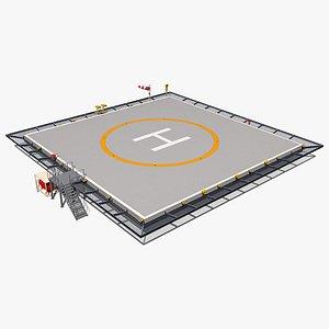 square heliport 3D model