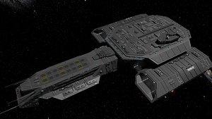 StarGate F-304 Daedalus Battlecruiser 3D model