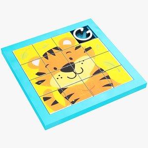 sliding puzzle model