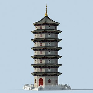 chinese pagodas 3D model