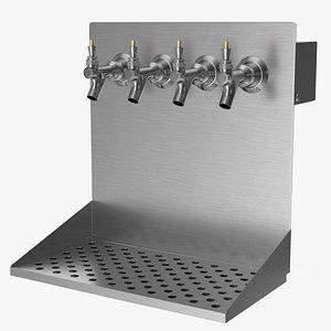 3D wall mount beer dispenser