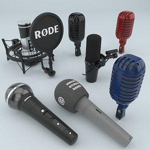 microphones studio 3D model