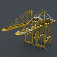PBR Quayside Container Crane V2 - Yellow Light