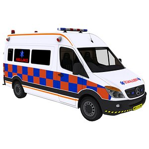 vehicle ambulance van 3D model