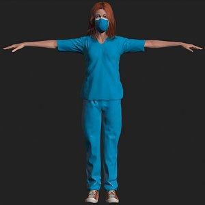 doctor female 3D