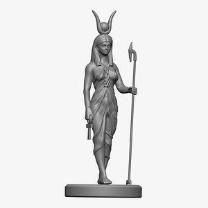 Egyptian Goddess isis Statue 3D model
