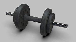 3D dumbells gym model