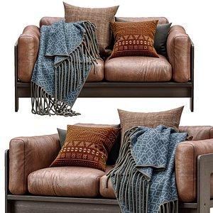 3D leather sofa bastiano petite model