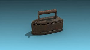 3D model low-poly iron
