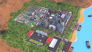 city cartoon 3D model