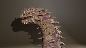 High poly great snake reptile 3D model