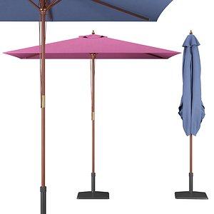 3D garden rectangular parasol