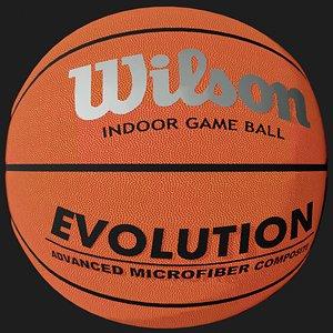 3D ball basket basketball model