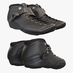 3D boots roller skate model