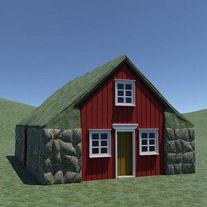 Turf house 3D model
